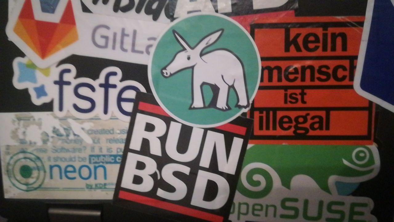 RUN BSD and other stickers